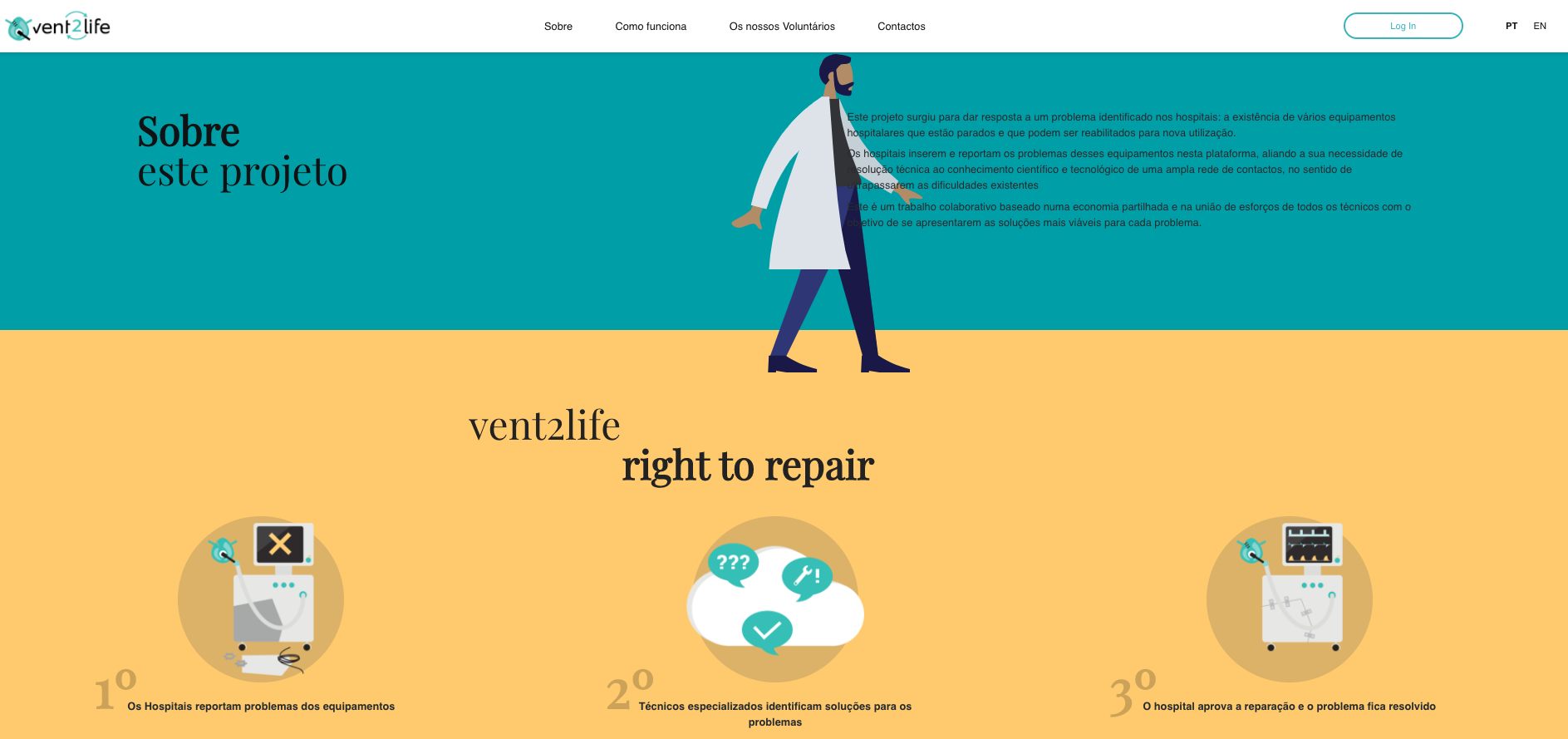 Vent2Life – A iniciativa que pretende identificar e recuperar ventiladores inativos
