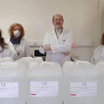 FFUL produz solução desinfetante para Hospital de Campanha de Lisboa