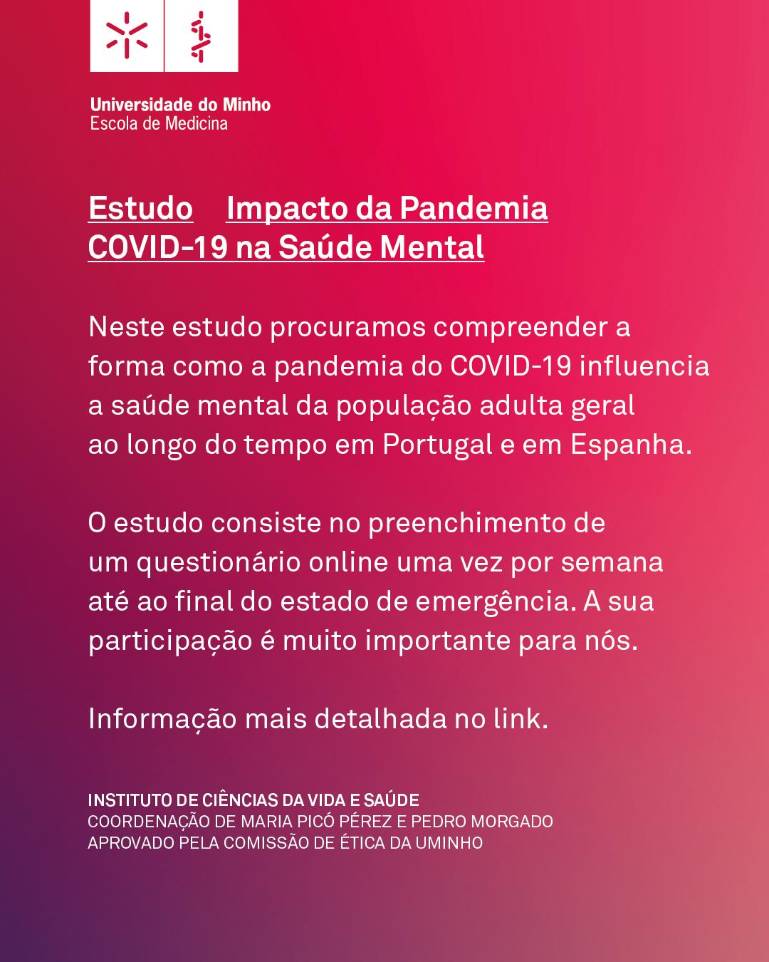 Promover a saúde mental durante a pandemia – uma plataforma digital para monitorização e intervenção