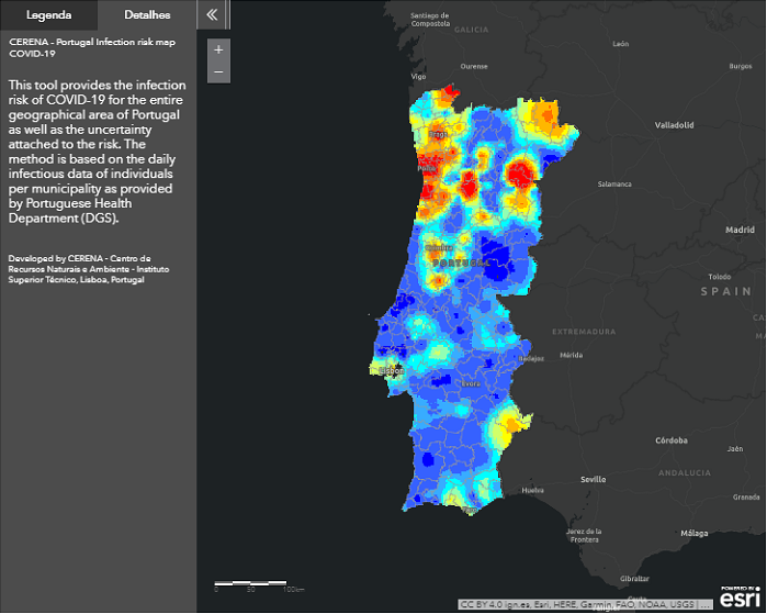 Daily Infection Risk Maps COVID-19 – Portugal